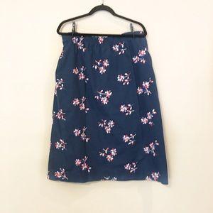Vintage Patriotic Floral Skirt